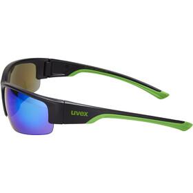 UVEX Sportstyle 215 Occhiali, black mat green/green